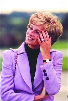 The late British Princess Diana and her favorite Cartier Tank watch