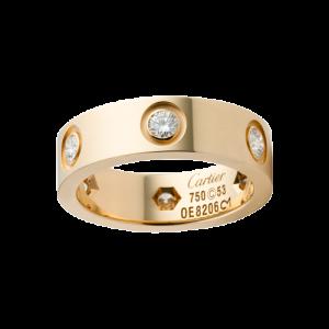 Cartier LOVE Ring Yellow Gold 6 Diamonds