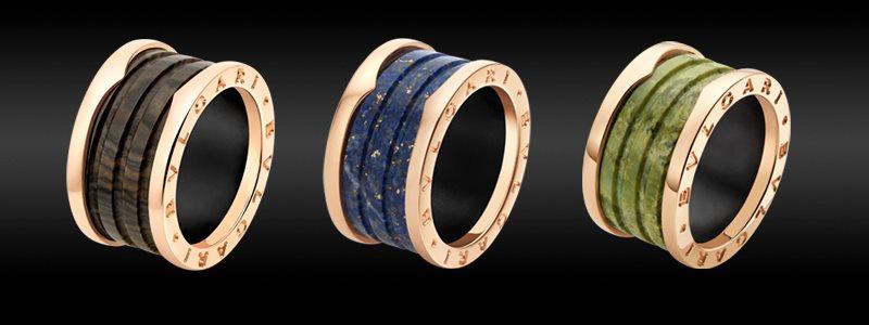 Bvlgari B.zero1 marble rings