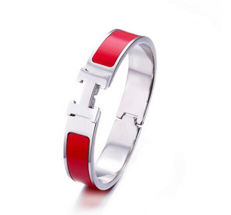 Hermes Clic H Enamel Bracelet