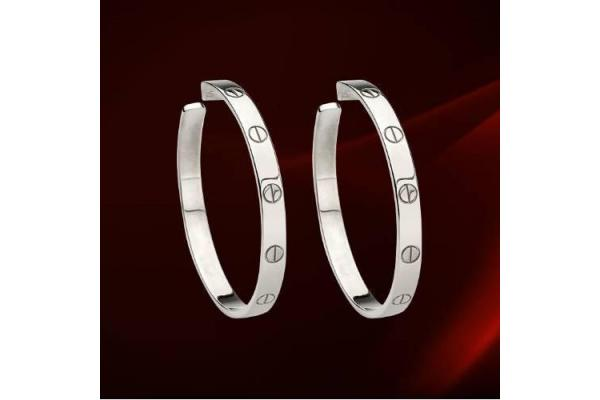 cartier white gold love hoop earrings