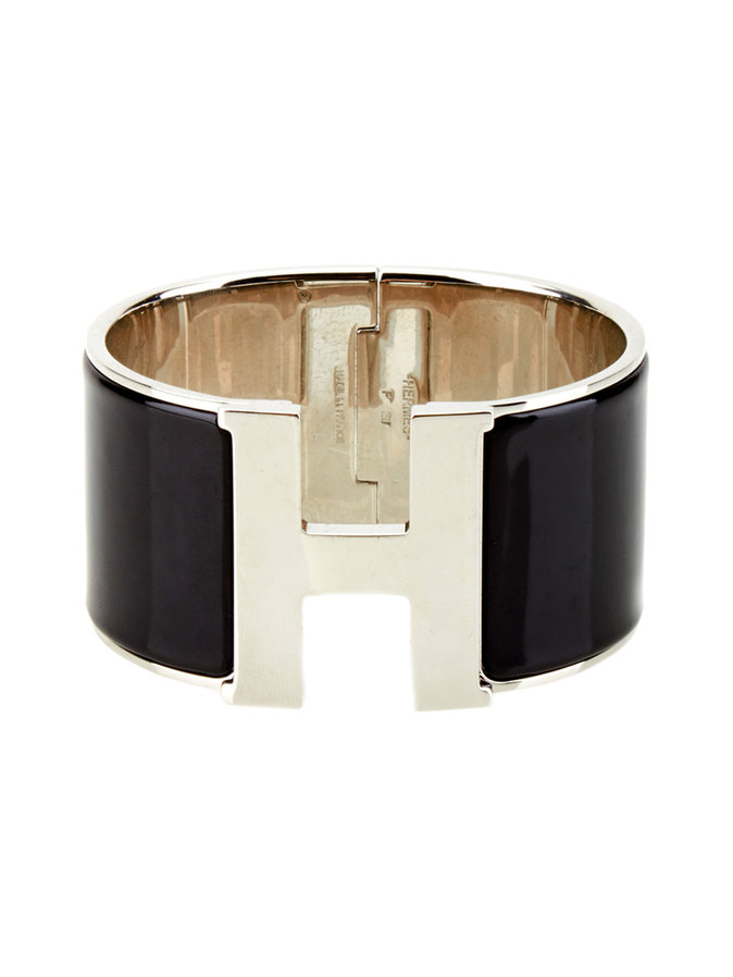 hermes clic clac h extra wide enamel bracelet