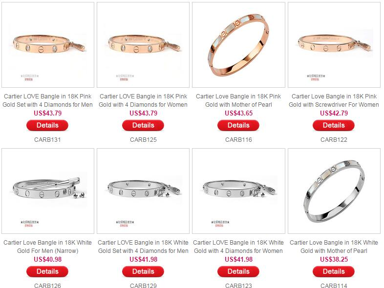 Latest 2015 Cartier Love Bangle Price