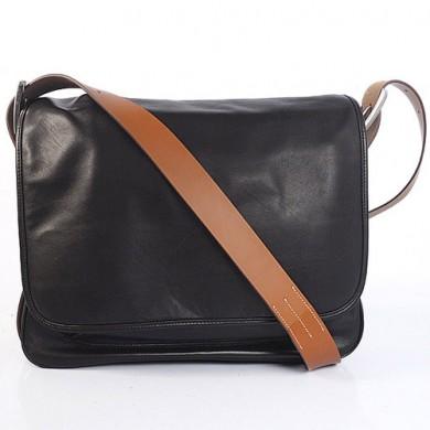 Hermes 35cm Barda men's bag Cowskin leather in Black