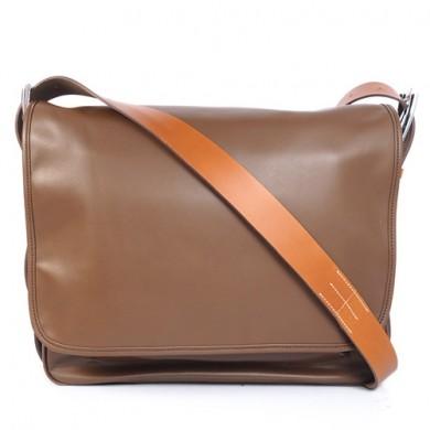 Hermes 35cm Barda men's bag Cowskin leather in Dark Brown