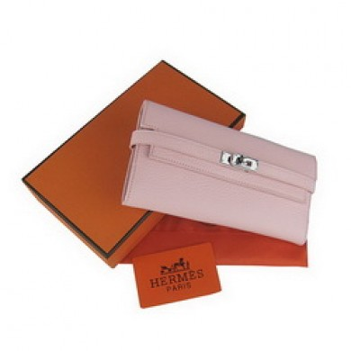 Hermes Kelly Wallet Pink Cow Leather H009