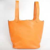 Hermes picotan MM Bag clemence leather in Orange