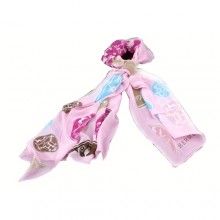 Authentic Cheap Hermes Pattern Silk Scarf Pink