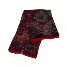 Authentic Hermes Scarf Red Online