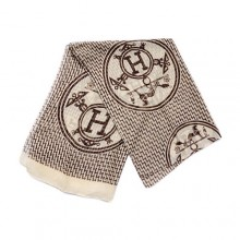 Authentic Hermes Silk Scarf Chocolate