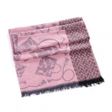 Discount Hermes Wool Shawl Scarf Grey Black Sale