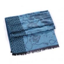 Discount Hermes Wool Shawl Scarf Sky Blue Sale