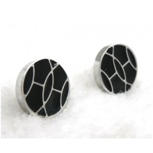 Hermes White Gold Earring With Black Color