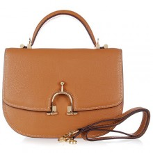 Hermes Leather Bag H39108 Camel/Gold