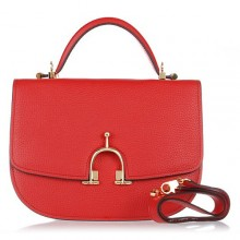 Hermes Leather Bag H39108 Red/Gold
