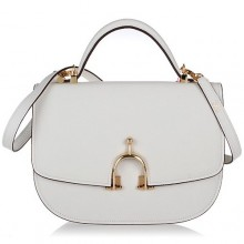 Hermes Leather Bag H39108 White/Gold