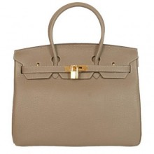 Hermes Birkin 35CM Tote Bags Smooth Togo Leather Dark Grey Golden