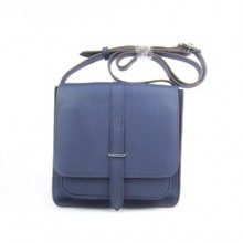 Hermes Deep blue Cow Leather Messenger Bags H2811