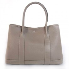 Hermes Garden Party 36CM Bag Clemence Grey