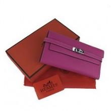 Hermes Kelly Wallet Purple Cow Leather H009