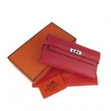 Hermes Kelly Wallet Red Cow Leather H009