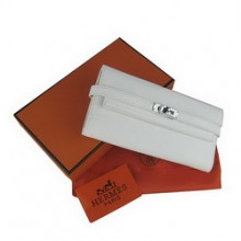 Hermes Kelly Wallet White Cow Leather H009