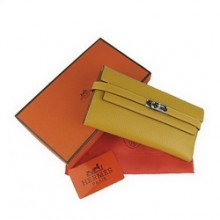 Hermes Kelly Wallet Yellow Cow Leather H009
