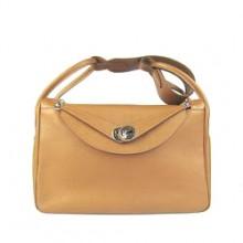 Hermes Lindy 34CM Shoulder Bag Coffee