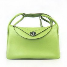 Hermes Lindy 34CM Shoulder Bag Green
