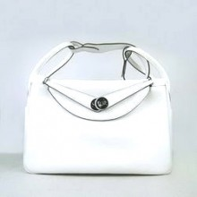 Hermes Lindy 34CM Shoulder Bag White