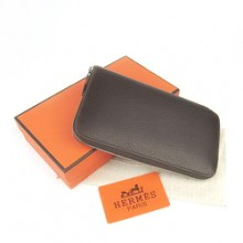 Hermes Zippy Cow Leather Wallet H016