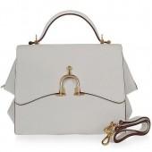 Hermes Leather Stirrup Mini Tote 509118 White