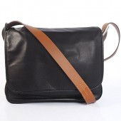 Hermes 35cm Barda men's bag Cowskin leather in Black