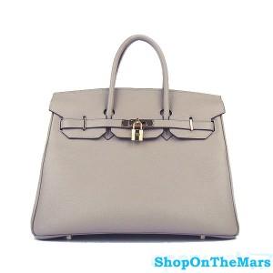 Hermes Beige Birkin 35CM Bag Clemence Leather With Gold HardWare