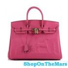 Hermes Pink Horse Drawn Birkin 35CM Bag Clemence Leather Gold Hardware