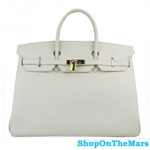 Hermes Birkin 40CM Bag Beige Clemence Leather With Gold HW