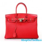 Hermes 1:1 Design Birkin Clemence Leather Bag Red