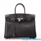 Hermes 1:1 Design Birkin Clemence Leather Bag Black