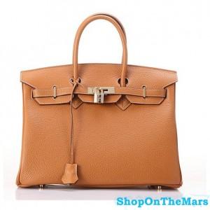 Hermes 1:1 Design Birkin Clemence Leather Bag Brown