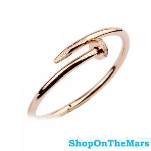 Cartier 18k Rose Gold Plated Juste Un Clou Bracelet with Diamonds