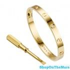 Cartier Original Design Gold Plated Love Bracelet with Four Diamonds