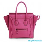 Celine Mini Luggage Calf Leather Pink Tote Bag Rare