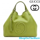 Italy Luxury Fashion GG Should Bag Green Calf Leahter