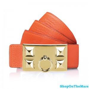 Hermes Clemence Leather CDC Belt Orange