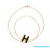 Hermes Gold Plated Fashion POP H Necklace Black