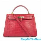 Hermes Red Birkin 32CM Bag Crocodile Leather With Gold HardWare