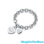 Tiffany 925 Silver Heart Lock Pendant Bracelet