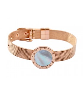 Bvlgari Somerset Style Bracelet in 18kt Pink Gold with Mother of Pearl