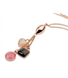 Bvlgari Charms Pendant Necklace in Pink Gold