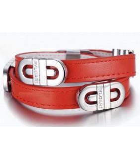 Bvlgari Parentesi Bracelet in Steel With Original Leather